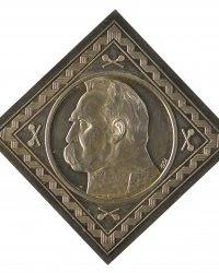 Fot. MOB, 10 złotych, (1934 r.) (klipa) proj. Stanisław Kazimierz Ostrowski (1897-1947) srebro, bity 47,5x47,5 mm, 40,957 g nie sygn. MOB/Mo 7618