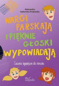 Okładka książki z ćwiczeniami logopedycznymi dla dzieci starszych