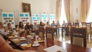 Uczestnicy delegacji oświatowej z Ukrainy, z obwodu chersońskiego